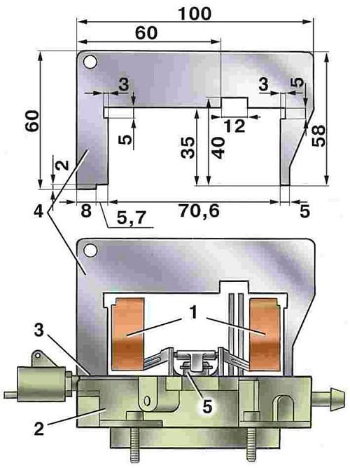регулировка уровня топлива в камере