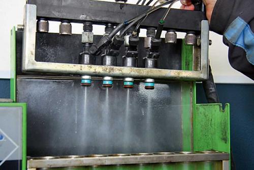 промывка форсунок на стенде