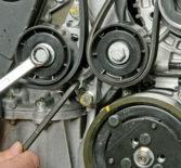 Как поменять ремень генератора на Renault Logan