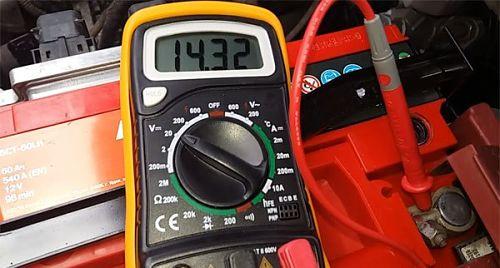 проверка генератора без демонтажа мультиметром