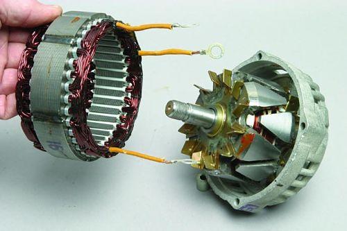 разобранный генератор