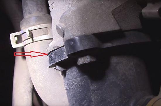 корпус термостата рено