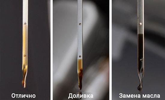 Визуальная оценка состояния масла