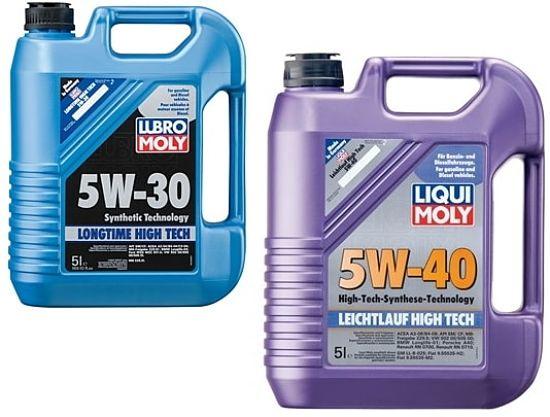 Моторное масло 5W30 и 5W40