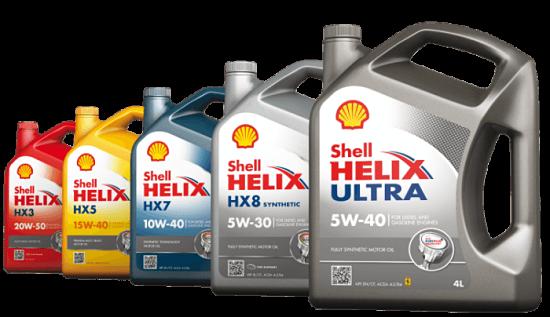 Выбор масла Shell