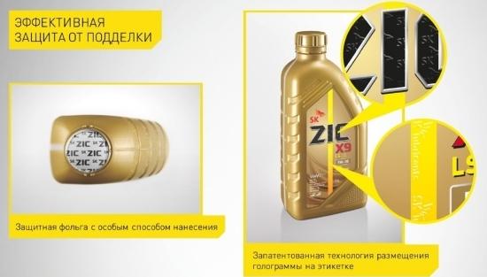 Признаки подделки ZIC 5w40