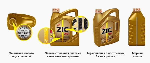 металлическая канистра синтетического масла ZIC 5W40