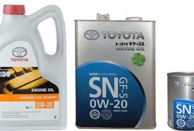 Всесезонное масло Тойота 0w-20