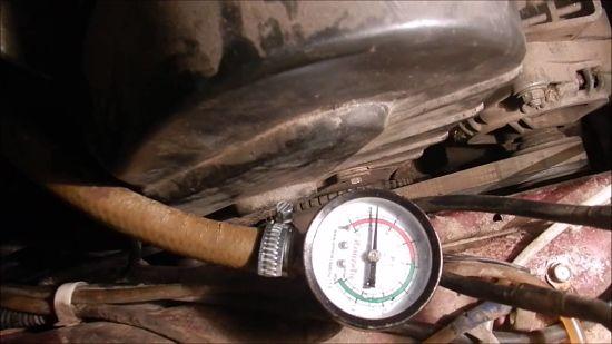 проверка давление в топливной рамке