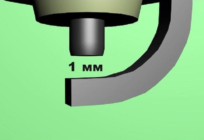 размер между центральным и боковым электродом свечи