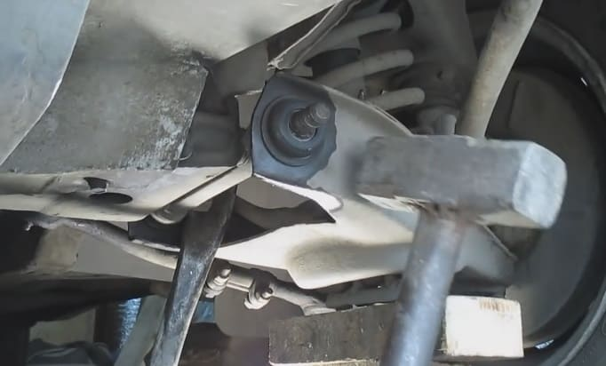 демонтаж сайлентблока на ВАЗ 2101-2107
